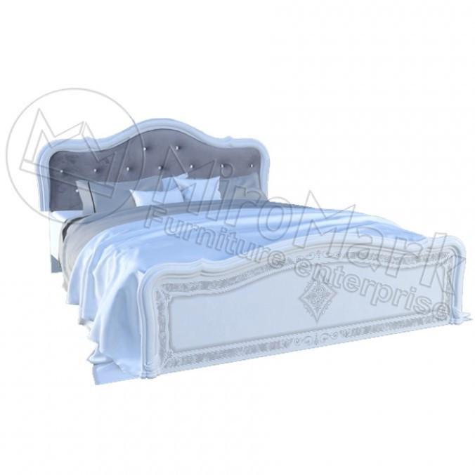 """Кровать """"Луиза Люкс с каркасом"""" Белый глянец ТМ """"Миро марк"""""""