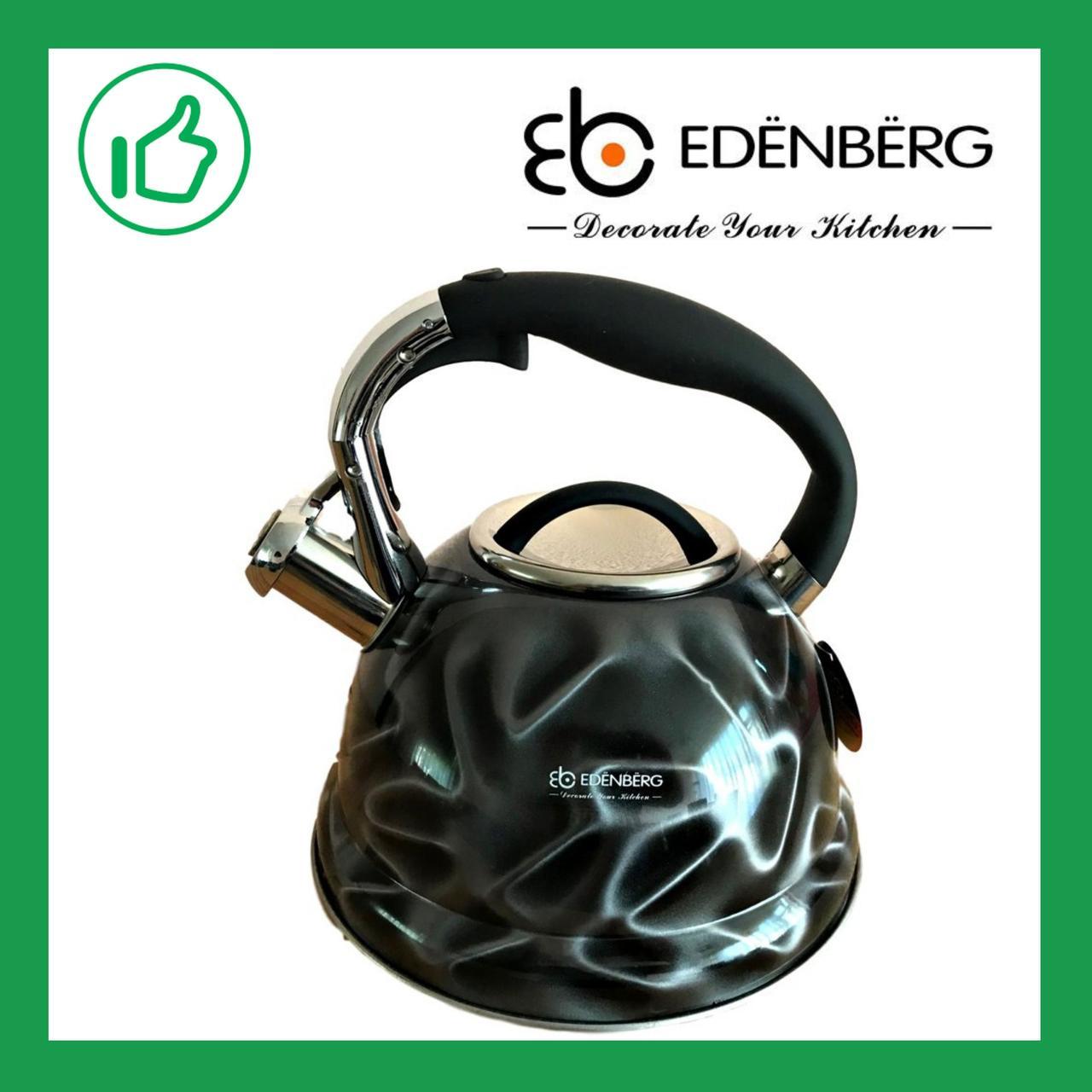 Чайник со свистком Edenberg 3.0 л Черный (EB-1911B)