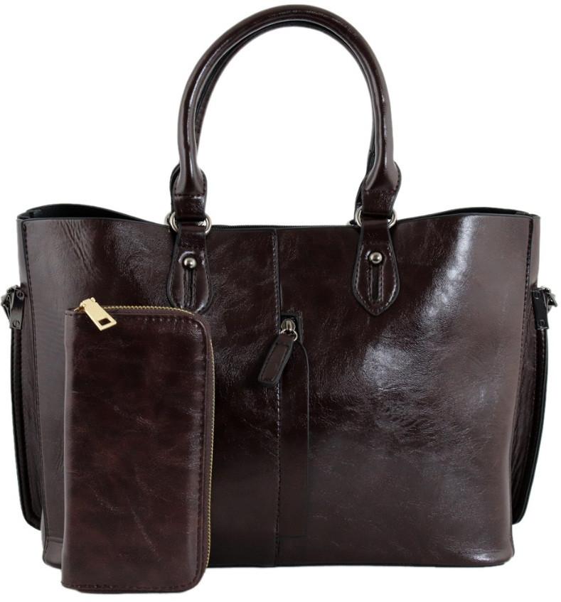 Комплект сумка и кошелек Traum 7228-44 кожзам коричневый