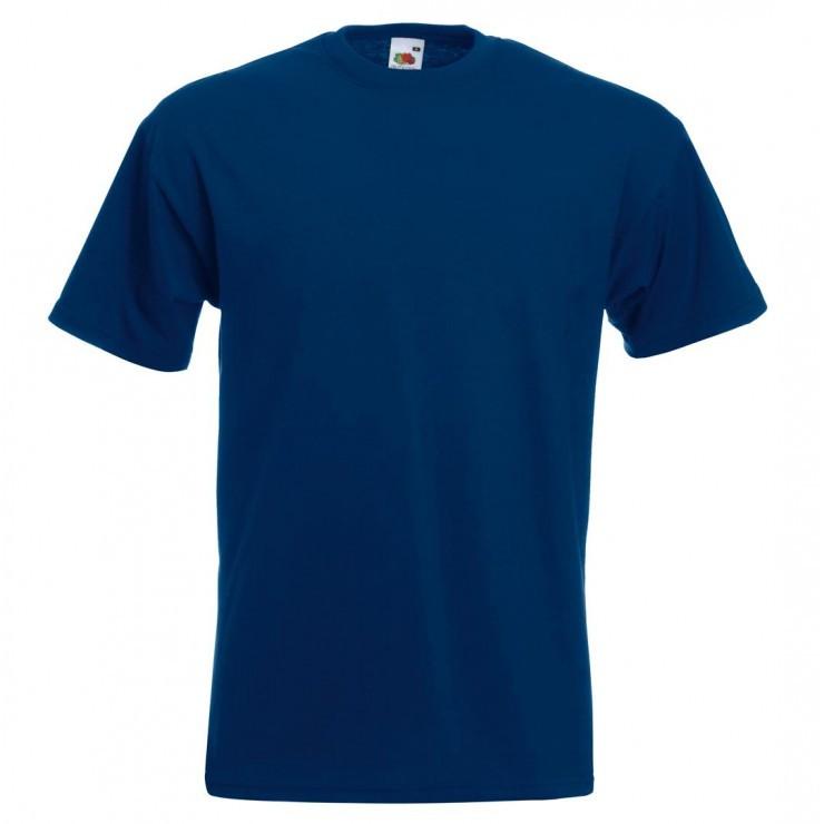 Мужская футболка премиум темно-синяя 044-32