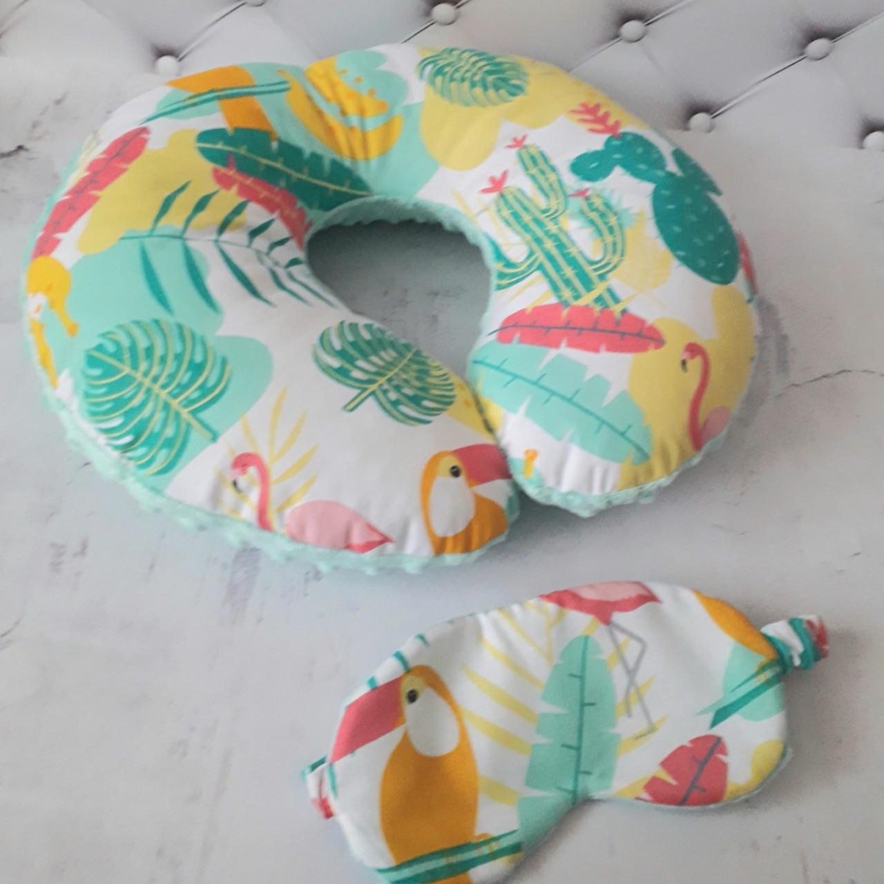 Подушка дорожная для путешествий Африка + ПОДАРОК маска для сна