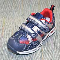 Мигающие кроссовки, спайдермен, BIKI размер 27 28 29 30 31 32