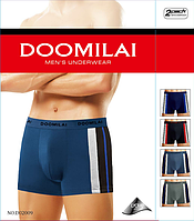 Мужские трусы боксёры хлопок+бамбук Doomilai 02009 (ростовка XL-2XL-3XL-4Xl)  ТМБ-1811529