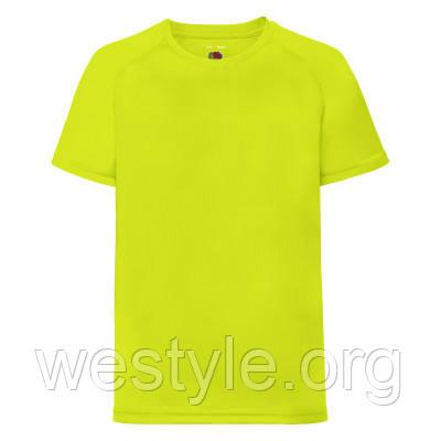 Футболка спортивная легкая детская - 61033-XK ярко-желтый