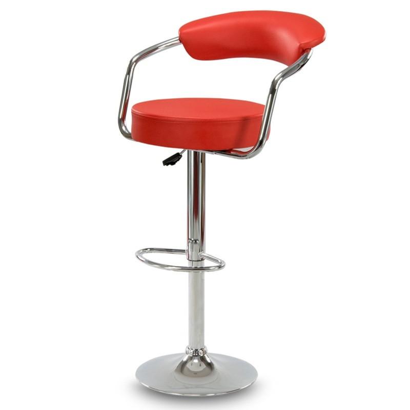 Барний стілець Hoker VIGO з регулюванням висоти і підставкою для ніг Червоний