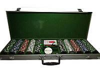 Набор для покера 500 фишек в металлическом кейсе