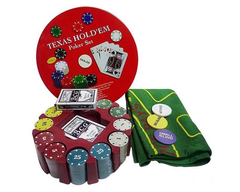 Набор для покера с сукном 240 фишек