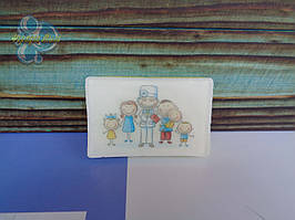 """Мыло с картинкой """"Семейному доктору"""" вариант 1"""