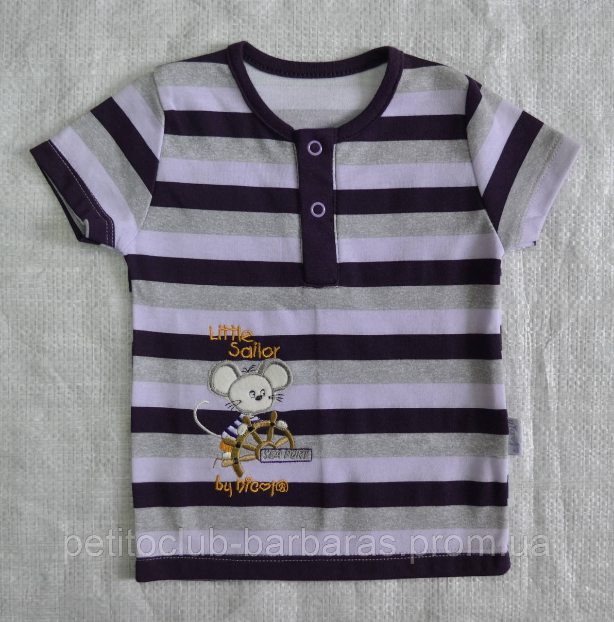 Детская хлопковая футболка Пират (Nicol, Польша)