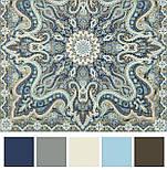 Розмарин 1850-1, павлопосадский платок шерстяной  с шелковой бахромой, фото 10