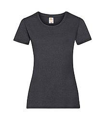 Женская футболка темно-серая меланж 372-HD