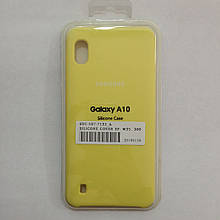 Чехол Samsung A10 Silicon Case Yellow