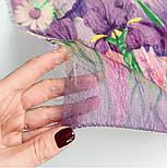 Палантин шерстяной 10756-15, павлопосадский шарф-палантин шерстяной (разреженная шерсть) с осыпкой, фото 3