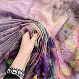 Палантин шерстяной 10756-15, павлопосадский шарф-палантин шерстяной (разреженная шерсть) с осыпкой, фото 9