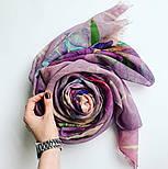 Палантин шерстяной 10756-15, павлопосадский шарф-палантин шерстяной (разреженная шерсть) с осыпкой, фото 7