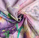 Палантин шерстяной 10756-15, павлопосадский шарф-палантин шерстяной (разреженная шерсть) с осыпкой, фото 6