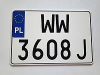 Сувенирный номерной знак  американский номер европейского образца польши, германии, литвы за 1 час