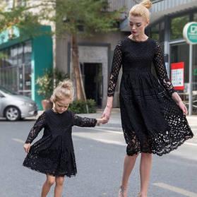 Семейный лук платья мама и дочь