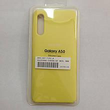 Чехол Samsung A50 Silicon Case Yellow