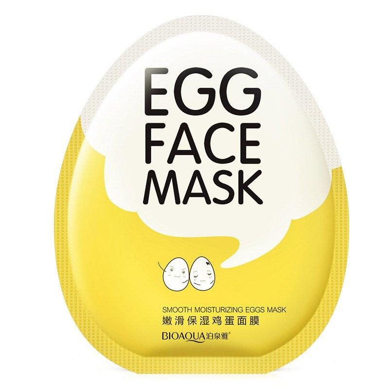 Тканевая маска с экстрактом яичного желтка Bioaqua Egg Face Mask (30г)