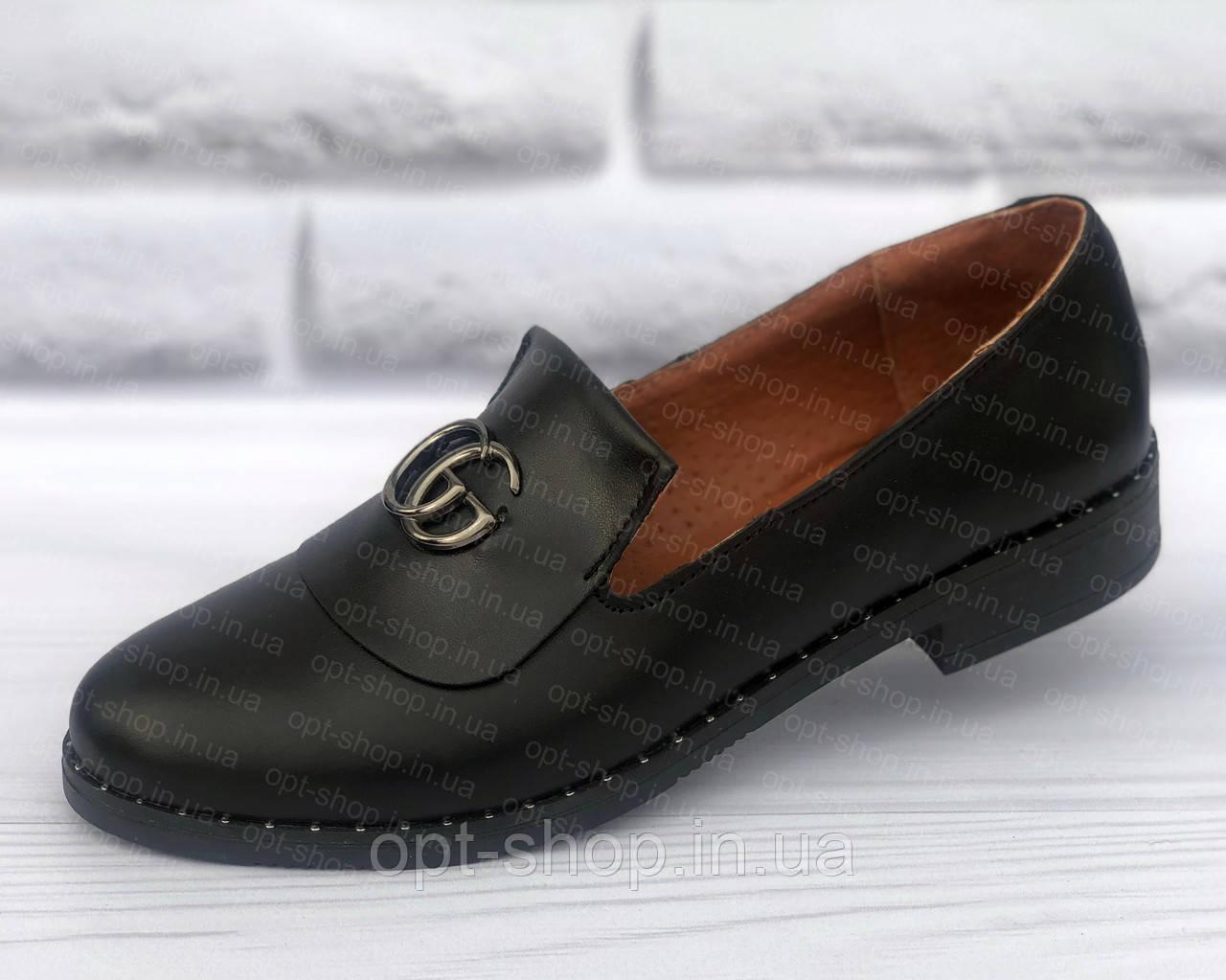 Балетки женские кожаные весенние демисезонные, женские кожаные туфли низкий ход (код:И-лоферы-чк)