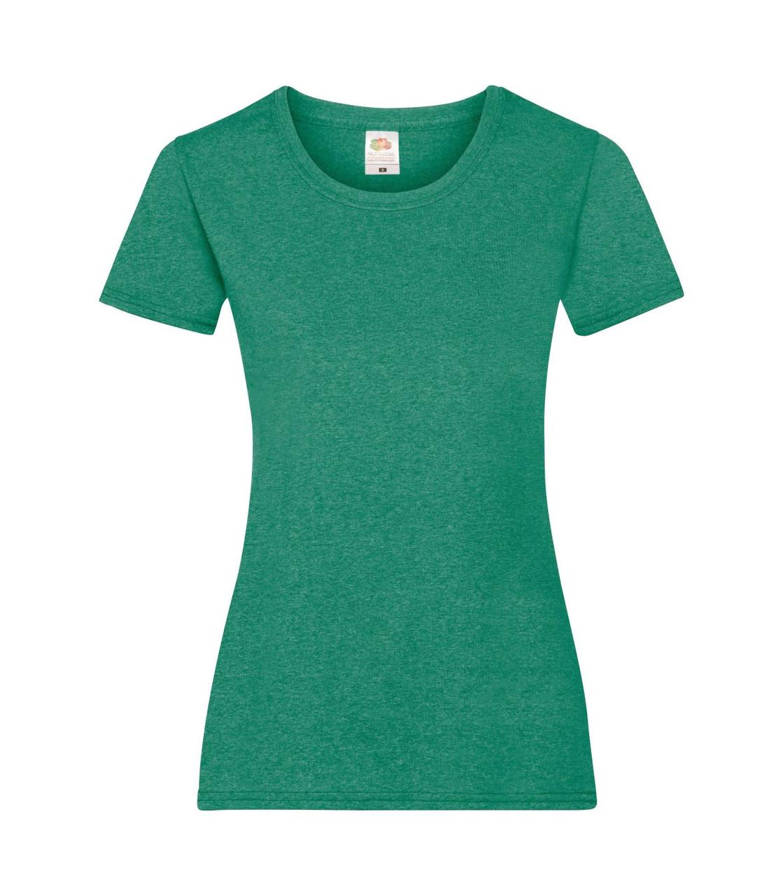 Женская футболка зеленая меланж 372-RX