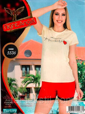 Пижама футболка с шортами качество лайкра Night Аngel № 5536, фото 2