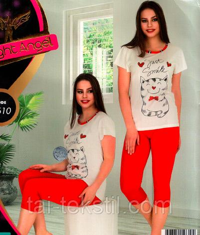 Домашний комплект футболка и капри Турция № 9610, фото 2