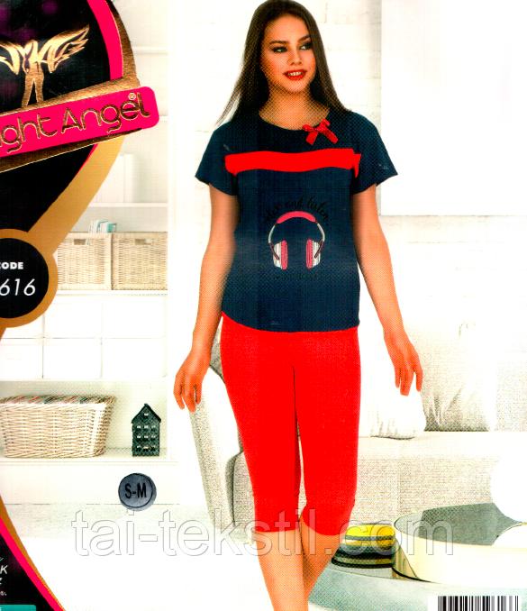 Комплект домашний лосины и футболка Night Angel Турция № 9616