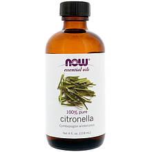 """Эфирное масло цитронеллы NOW Foods, Essential Oils """"Citronella"""" (118 мл)"""