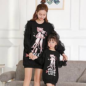 Платье мама и дочка FAMILY LOOK, платье фэмили лук, одинаковые платья, парная одежда
