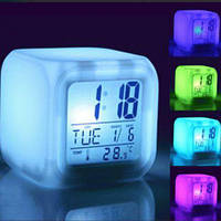 ✅ Часы будильник хамелеон с термометром