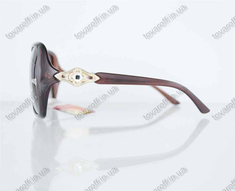 Оптом окуляри жіночі сонцезахисні поляризаційні - Коричневі - 1553, фото 2