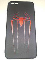 """Чехол накладка Черный TPU Case для Apple iPhone 6 Plus/6S Plus с принтом """"Spider"""" - """"Паук"""""""