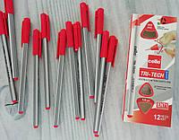 Ручка Шариковая 1 мм Красная Tri-Tech CL-1003 95611 Cello Индия