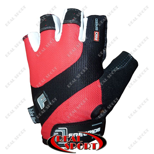 Велоперчатки Pro Speed FR-1202, красные