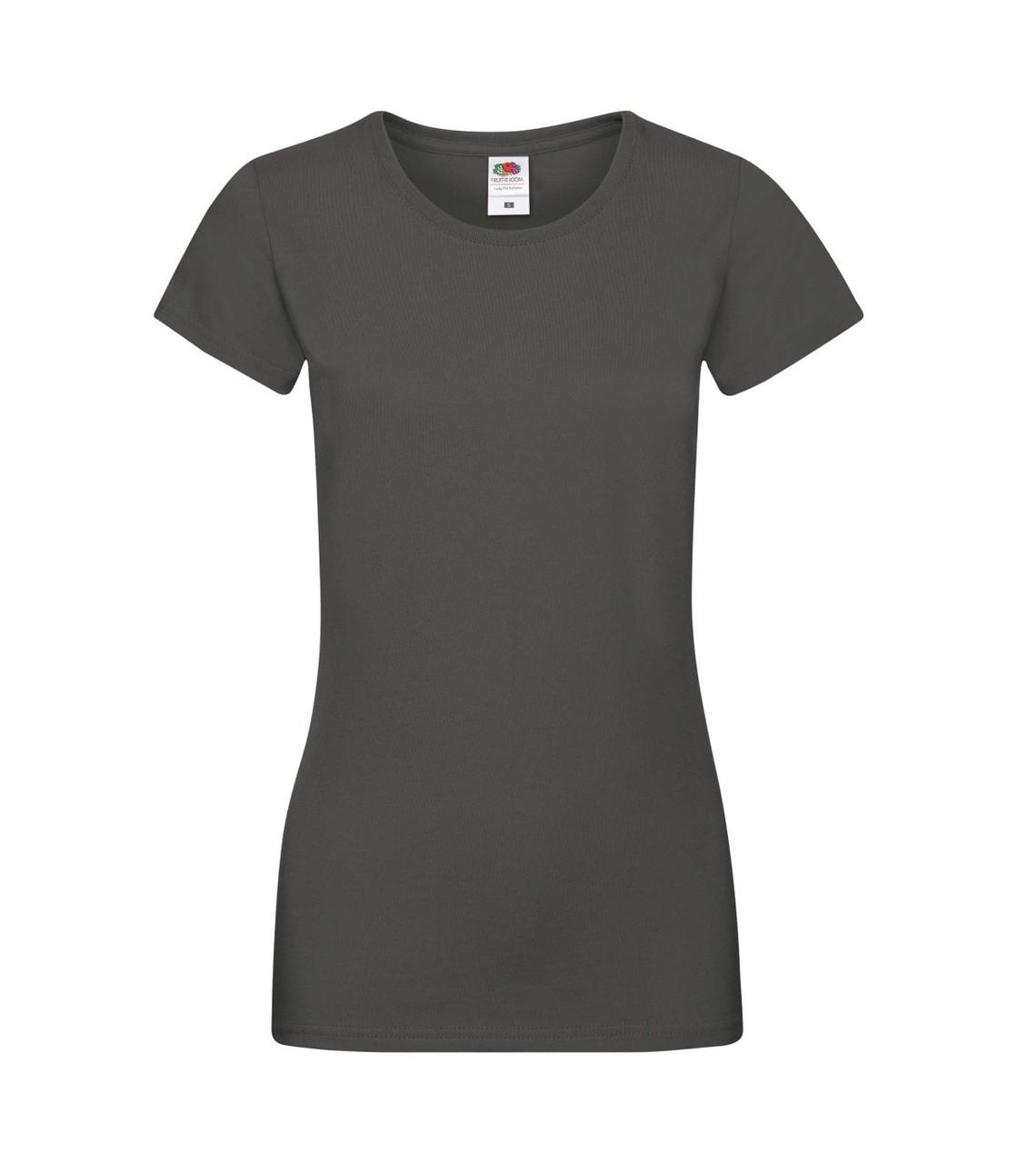 Женская футболка хлопок темно-серая 414-GL