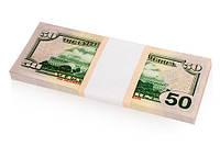 50 $ долларов - сувенирные деньги