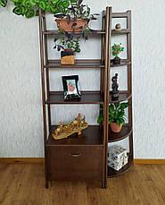 """Стеллаж деревянный """"Лофт Премиум"""" (лесной орех), фото 3"""