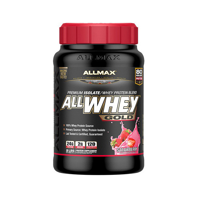 Сывороточный протеин изолят AllMax Nutrition All Whey Gold (907 г) алмакс cinnamon french toast