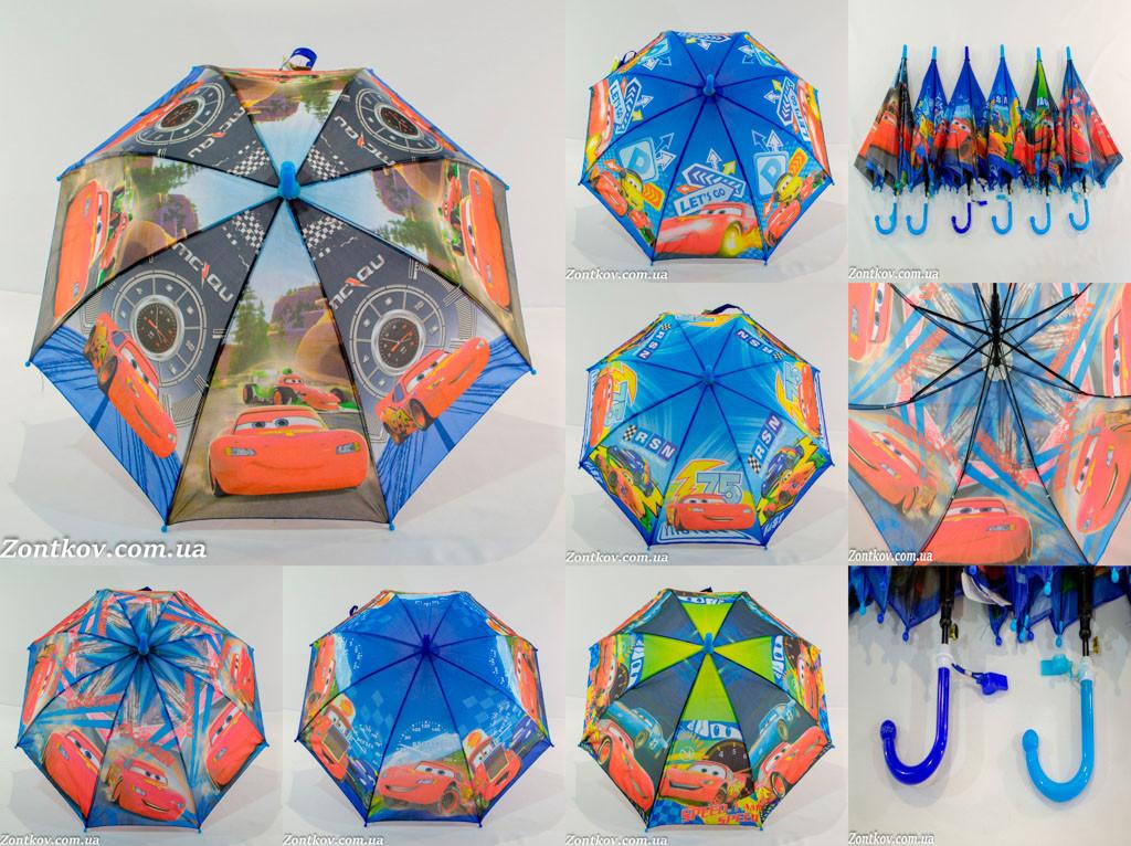 """Детский зонтик трость для мальчика оптом на 3-6 лет от фирмы """"Paolo"""""""