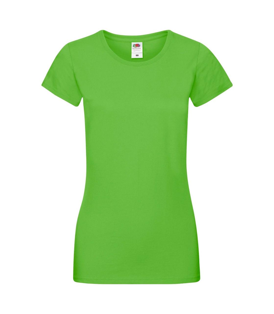 Женская футболка хлопок лайм 414-LM
