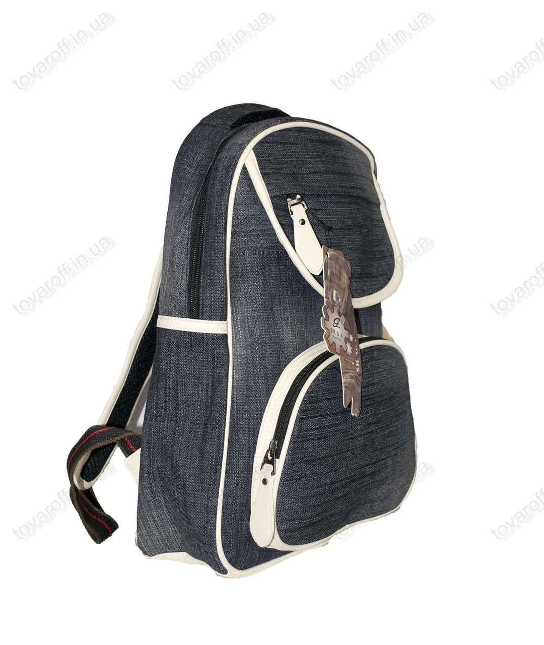 Рюкзак школьный/городской джинсовый - Серый - 6181