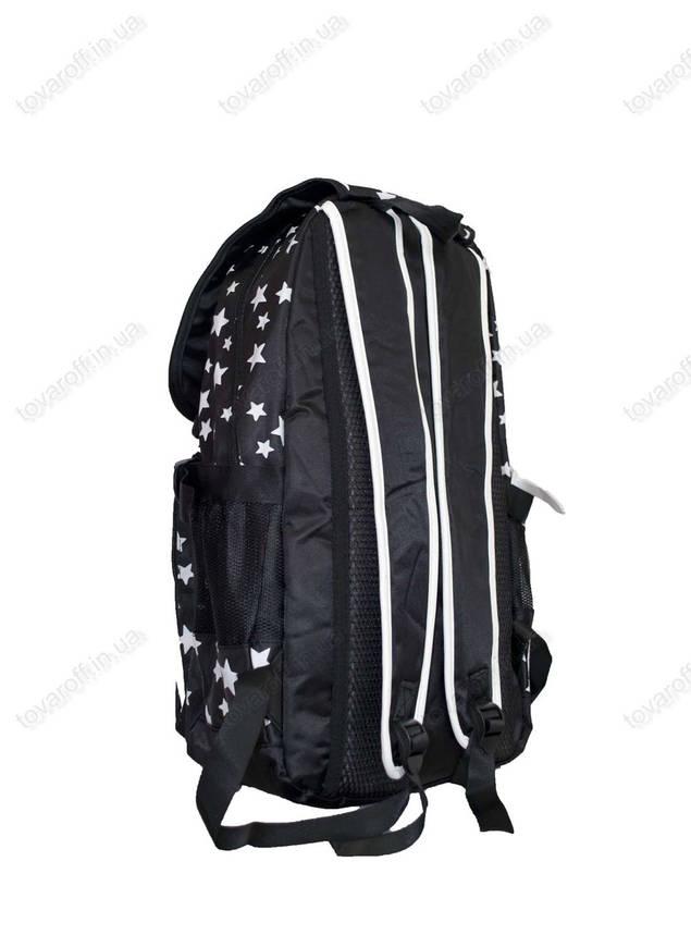 Оптом рюкзак школьный/городской для девочки - Звездочки - Черно-белый - 1773, фото 2