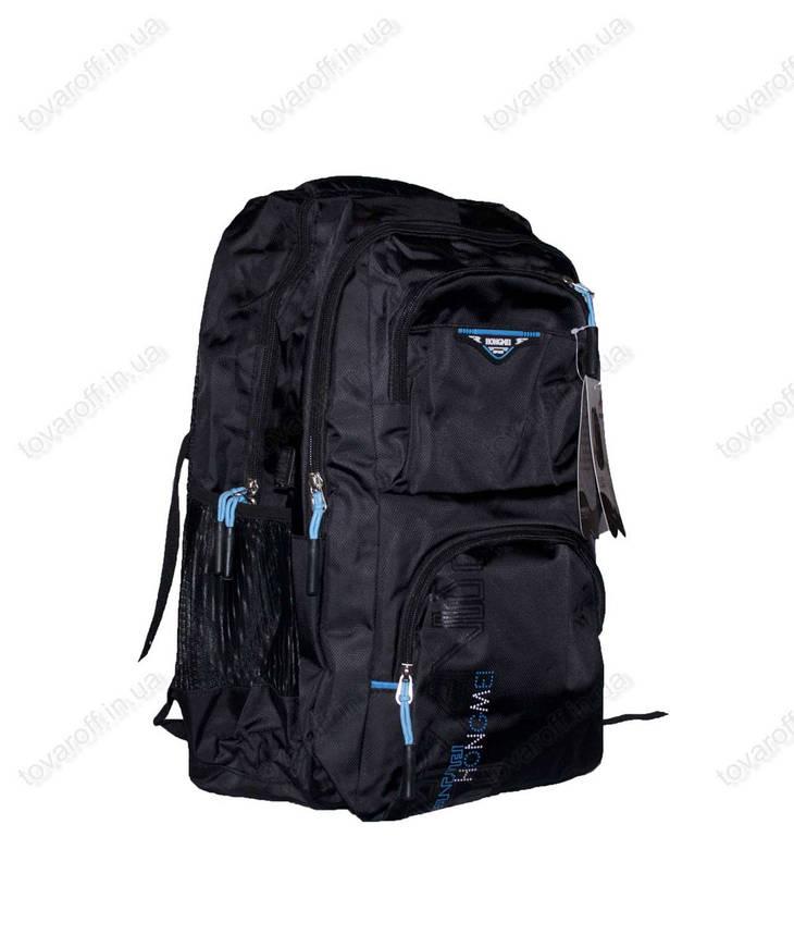 Оптом рюкзак шкільний/спортивний - Чорно-блакитний - 8008, фото 2