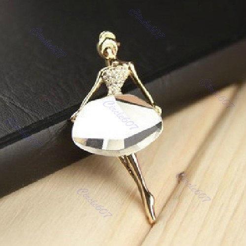 Необычный женский кулон с камнем Балерина