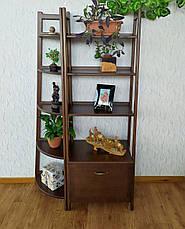 """Стеллаж этажерка из массива натурального дерева от производителя """"Лофт Премиум"""" Орех лесной, фото 2"""