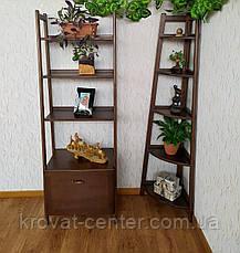 """Стеллаж этажерка из массива натурального дерева от производителя """"Лофт Премиум"""" Орех лесной, фото 3"""