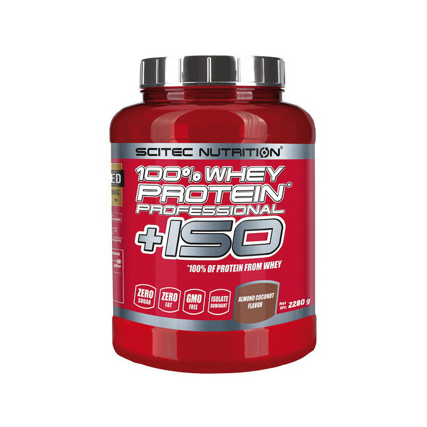 Сывороточный протеин изолят Scitec Nutrition 100% Whey Protein Professional +ISO (2.28 кг) скайтек  strawberry-white chocolate