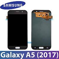 Модуль Samsung Galaxy A5 (2017) SM-A520F черный с регулируемой подсветкой,  дисплей экран, сенсор тач скрин